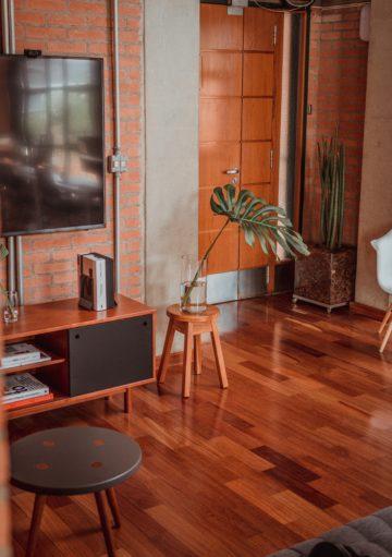gleaming wood flooring