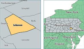 Lebanon County map