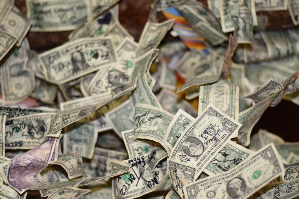 lot of one dollar bills