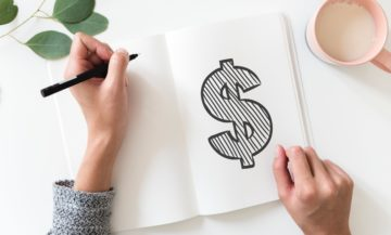dollar sign on journal page